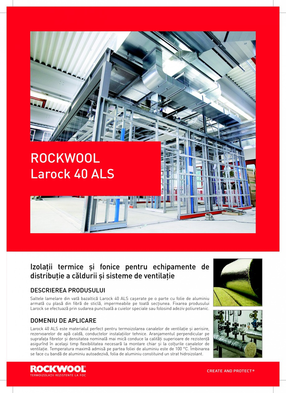 Pagina 1 - Saltele lamelare din vata bazaltica ROCKWOOL LAROCK 40 ALS Fisa tehnica Romana ROCKWOOL...