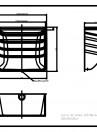 Curte de lumina ACO Markant 100 x 100 x 50cm