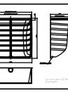 Curte de lumina ACO Markant 125 x 130 x 50 cm