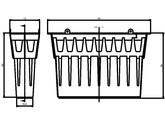 Accesorii pentru rigole cu gratar din beton cu polimeri - Cos de aluviuni Art.Nr.13999 ACO