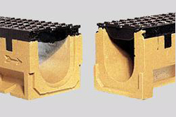 Rigole cu gratar din beton cu polimeri  ACO - Poza 1