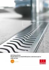 Detalii tehnice si solutii ACO pentru colectarea apei in salile de baie ACO