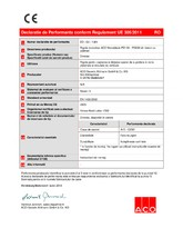 Declaratie de Performanta - Rigole monobloc ACO Monoblock PD100 - PD200 din beton cu polimeri ACO