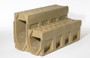 Rigole monobloc din beton cu polimeri Rigolele ACO din beton cu polimeri intr-un design compact, fara gratar, usor de montat si deosibit de stabile si rezistente la factorii externi.