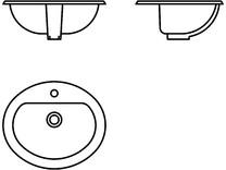 Obiecte sanitare - Lavoare - 2D - 6084 VITRA
