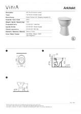 Obiecte sanitare speciale pentru persoane cu handicap Arkitekt VITRA