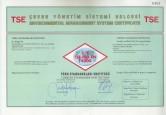 Certificat de calitate - C-E TSE-ISO-EN 14000 - Turcia VITRA