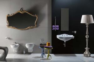 Obiecte sanitare, seturi complete Din 1995 AXA promoveaza conceptul emotional al baii - centru expresiv al ambiantei unei resedinte elegante.