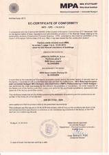 Certificat de conformitate MPA