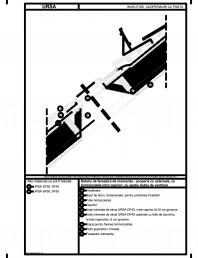 Detaliu de fereastra de mansarda - acoperis cu astereala cu termoizolatia intre capriori cu spatiu dublu