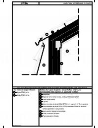 Detaliu de rupere de panta - acoperis fara asterea cu termoizolatia intre capriori cu spatiu de