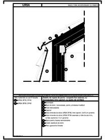 Detaliu de rupere de panta - acoperis fara asterea, cu termoizolatia intre capriori, cu spatiu de ventilare URSA