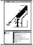 Detaliu de streasina - acoperis cu termoizolatia intre capriori, pe structura de beton armat URSA