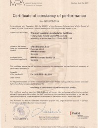 CERTIFICAT DE PERFORMANTA