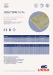 Placi usoare din vata minerala hidrofobizate URSA - TERRA 76 Ph