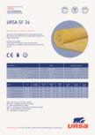 Saltea din vata minerala de sticla URSA -  SF 34