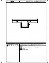 Pereti de compartimentare - inglobarea unui stalp de BA in structura peretelui - sectiune orizontala