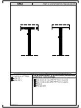 Pereti de compartimentare - pe structura metalica, placare simpla, racord la tavan - sectiune verticala URSA