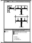 Pereti de compartimentare - pe structura metalica placare simpla racord la tavan suspendat - sectiune verticala
