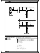 Pereti de compartimentare - pe structura metalica, placare simpla, racord la tavan suspendat - sectiune verticala URSA