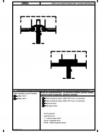 Pereti de compartimentare - pe structura metalica, placare simpla, racord la tavan suspendat - sectiune verticala