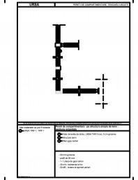 Pereti de compartimentare - pe structura simpla de lemn - sectiune orizontala
