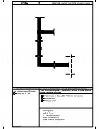 Pereti de compartimentare - pe structura simpla de metal, placare simpla - sectiune orizontala