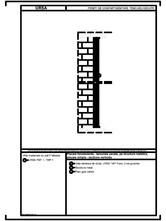 Placare fonoizolanta - tencuiala uscata, pe structura metalica, placare simpla - sectiune verticala URSA