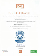 Certificat Blue Angel URSA