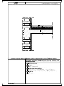 Detaliu de pardoseala pe sapa de beton, flotanta - deasupra unui subsol neincalzit URSA