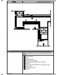 Detaliu de planseu in consola cu termoizolatia prinsa de placa de BA