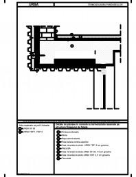 Detaliu de planseu in consola cu termoizolatia rezemata pe structura finisajului de fatada