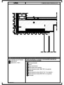 Detaliu de planseu in consola cu termoizolatia rezemata pe structura finisajului de fatada URSA