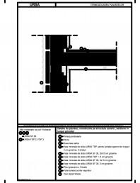 Detaliu de planseu, constructie pe structura usoara , sectiune in lungul grinzilor