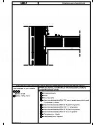 Detaliu de planseu, constructie pe structura usoara, sectiune perpendiculara pe grinda