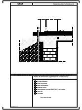 Detaliu de termoizolare a pardoselii in zona accesului URSA