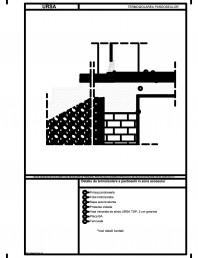 Detaliu de termoizolare a pardoselii in zona accesului