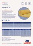 Saltea ușoară din vată minerală de sticlă URSA - DF 39