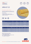 Saltea din vata minerala de sticla URSA - SF 32