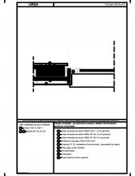 Fatada ventilata - pe structura usoara, detaliu de fereastra, sectiune orizontala