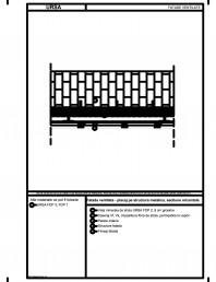 Fatada ventilata - placaj pe structura metalica, sectiune orizontala