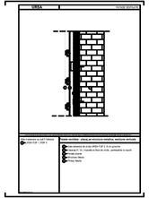 Fatada ventilata - placaj pe structura metalica, sectiune verticala URSA