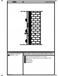 Fatada ventilata - placaj pe structura metalica, sectiune verticala
