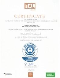 Certificat Blue Angel