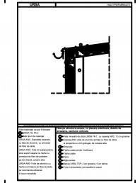 Hala pe structura usoara, cu placare exterioara, detaliu de streasina, sectiune verticala