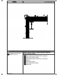 Hala pe structura usoara, cu placare exterioara, detaliu de timpan, sectiune verticala
