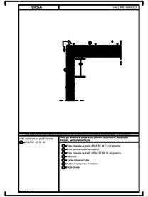 Hala pe structura usoara, cu placare exterioara, detaliu de timpan, sectiune verticala URSA