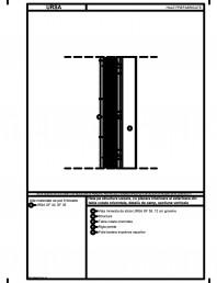 Hala pe structura usoara cu placare interioara si exterioara din tabla cutata orizontala detaliu de camp