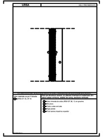Hala pe structura usoara, cu placare interioara si exterioara din tabla cutata verticala, detaliu de camp, sectiune verticala URSA