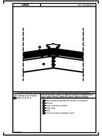 Hala pe structura usoara, cu placare interioara si exterioara din tabla cutata verticala, detaliu de coama, sectiune verticala URSA